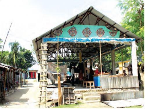 খানখানাপুর স¤্রাটনগর বাজারের কৃষিপণ্য শেড নির্মাণ